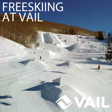 freeskiing at vail